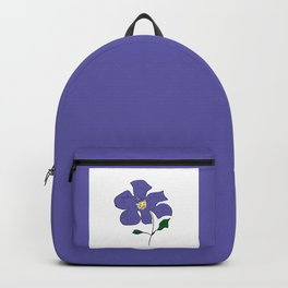 sketch of an indigo flower Backpack