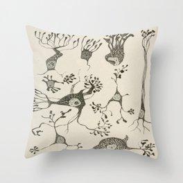 Neuron Cells Throw Pillow