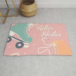 Roller skates illustration 006 Rug