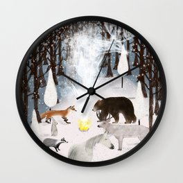 the forest guardians Wall Clock