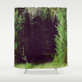 Venturing through Darkness Shower Curtain