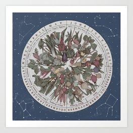 Seasonal Planting Calendar Art Print