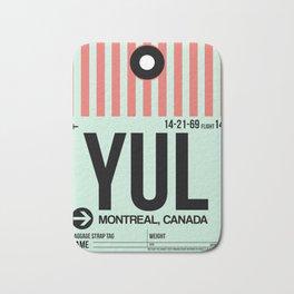 YUL Montreal Luggage Tag 2 Bath Mat