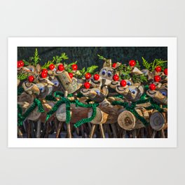 Red Noses. Art Print