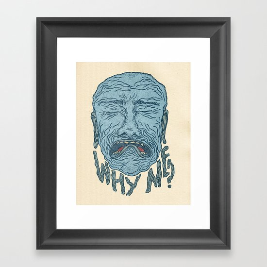 A PORTRAIT OF EVERYONE IN THE WORLD Framed Art Print