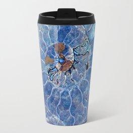 Blue seashell -mother-of-pearl - Beautiful backdrop Travel Mug