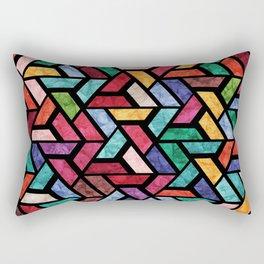 Seamless Colorful Geometric Pattern VII Rectangular Pillow