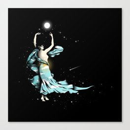 Dance Into The Moonlight Canvas Print