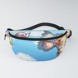 kawaii chibi flying elf for anime and fantasy fans Fanny Pack