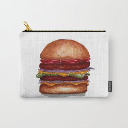 Burger watercolor Carry-All Pouch