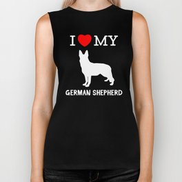 I Love my German Shepherd Biker Tank