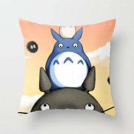 my neighbor friend Throw Pillow