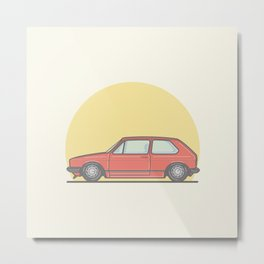 Golf Mk1 GTI vector illustration Metal Print