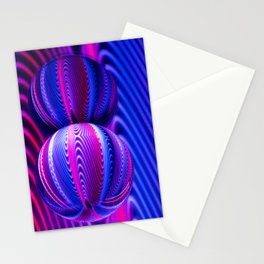 Colours in Invert Glass Ball Stationery Cards