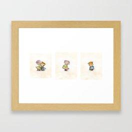 Best Friends Forever triptych Framed Art Print