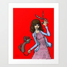 Pierrot Le Fou Art Print