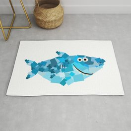Square Shark Daddy! - Shark Family Rug