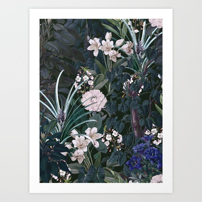 Midnight Garden IX Art Print