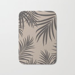 Palm Leaves Pattern Sepia Vibes #1 #tropical #decor #art #society6 Bath Mat