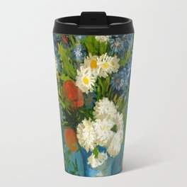 Vincent Van Gogh Vase With Cornflowers And Poppies Travel Mug