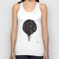 hot air balloon Tank Tops featuring Hot Air Balloon Skull by Fupete Art