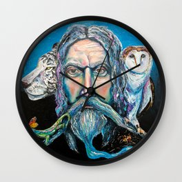 KEEPER OF THE WOOD Wall Clock