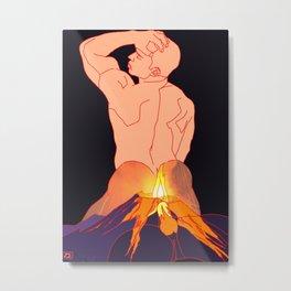 Raging Volcano Metal Print