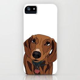 Mabel the mini Dachshund iPhone Case