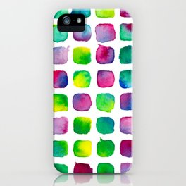 Watercolor Squares iPhone Case