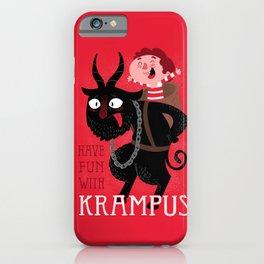 Have fun with Krampus iPhone Case