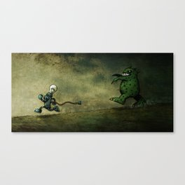 Run for Bulb Canvas Print