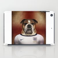 english bulldog iPad Cases featuring Worldcup 2014 : England - English Bulldog by Life on White Creative