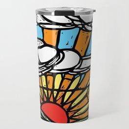 Sunrise Stained Glass Window Travel Mug