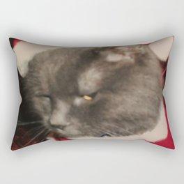 Santa Cat Rectangular Pillow