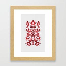 Traditional Folk Pattern Jablonica, Slovakia Framed Art Print