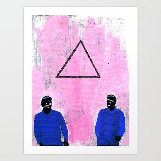 Trekant Art Print