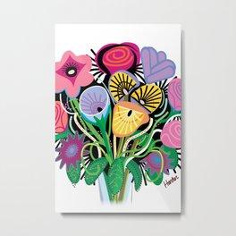 Animal Flowers Metal Print