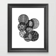 Sharpie Circles Framed Art Print
