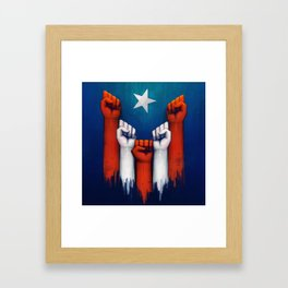 Puerto Rico power of the people Framed Art Print