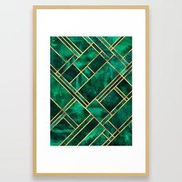 Emerald Blocks Framed Art Print
