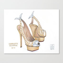 Charlotte Olympia's Fish Shoes Canvas Print