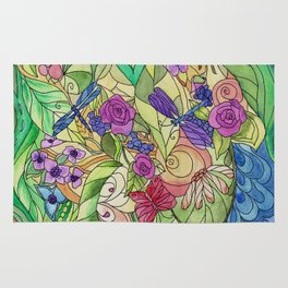 Stained Glass Garden Too Rug