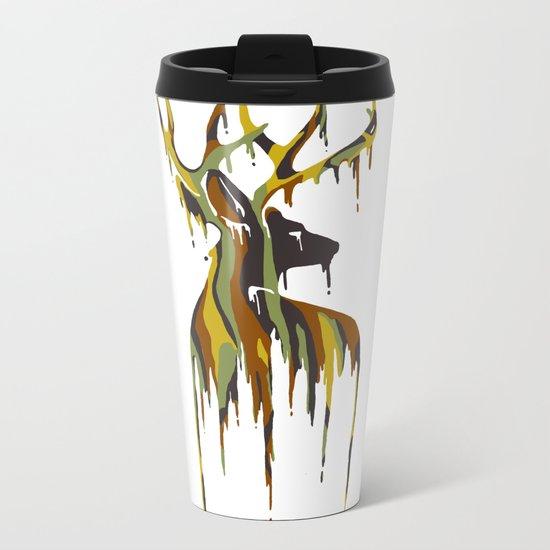 Painted Stag Metal Travel Mug
