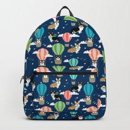 Corgi Hot Air Balloon Dog design - corgi dogs cute dog design Backpack