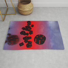 dices black-red Rug