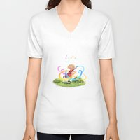 lydia martin V-neck T-shirts featuring Lydia by Louis Van Driessche