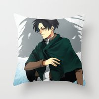 levi Throw Pillows featuring Levi by MelCassells