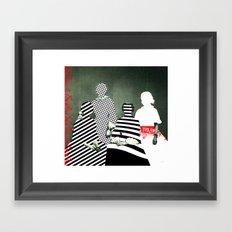 Fragmented Memories Framed Art Print