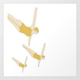 Synchronized Swimmers Art Print