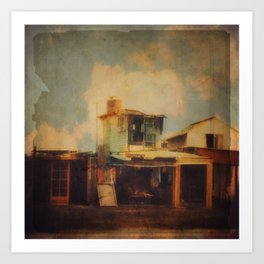Fisherman Houses Art Print